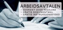Arbeidsavtale - regler og gratis dokumentmal arbeidskontrakt